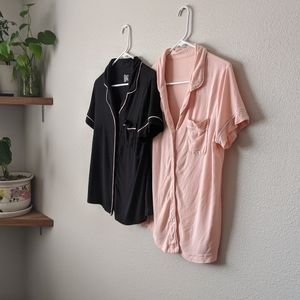 Gilligan & O'Malley Button Up Pajama Shirts